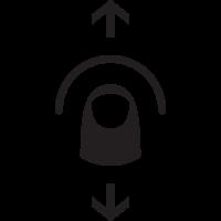 Vertical Swipe Icon